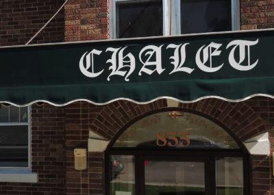 Chalet Sign Close-up